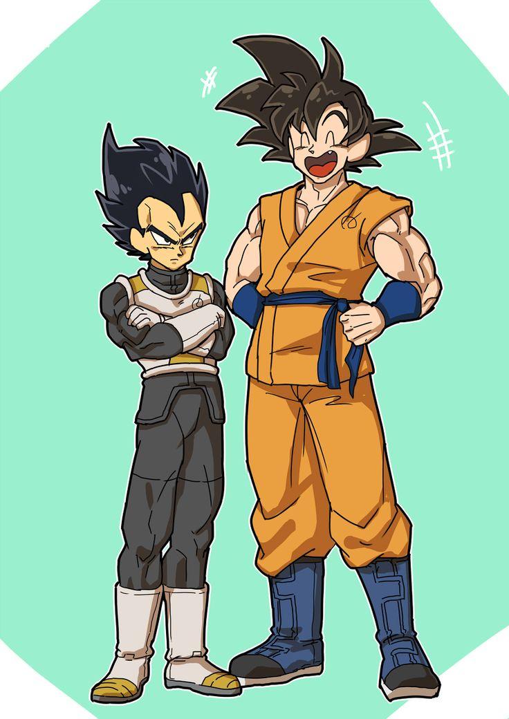 Vegeta & Goku | DBつめ | う ば [pixiv] http://www.pixiv.net/member_illust.php?mode=medium&illust_id=49951219
