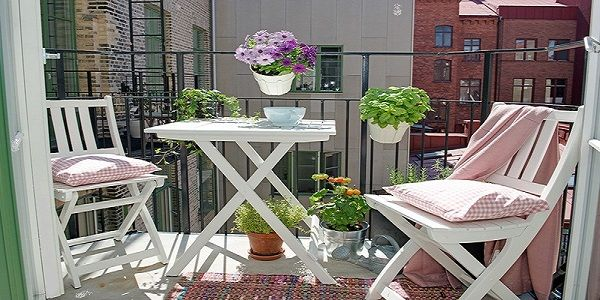 Creative Garden and Terrace Ideas with Corner Table