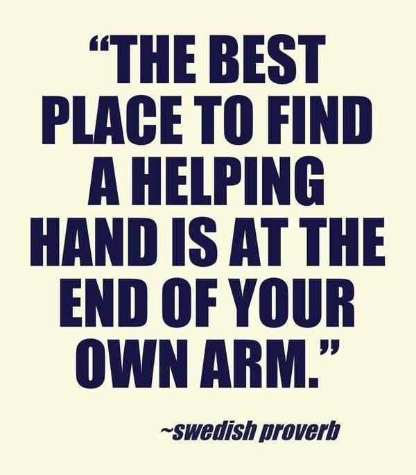 Helping hands begins with me. I extend mine to those who need a hand up.
