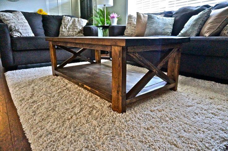 LoveLife&DIY: DIY Rustic X Coffee Table
