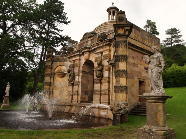 Cascade, Chatsworth House, Derbyshire, UK by Henri Nahauld  sp