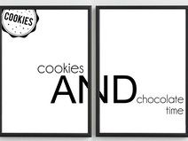 Plakaty -COOKIES AND CHOCOLATE- 2x 50x70,7 cm - B2