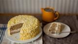 This light, fluffy, sponge is delicate and delicious. Don't be put off by the piping; it's incredibly forgiving and very easy to get a striking effect.   For this recipe you will need a large piping bag fitted with a medium closed star nozzle and a 20cm/8in springform cake tin.