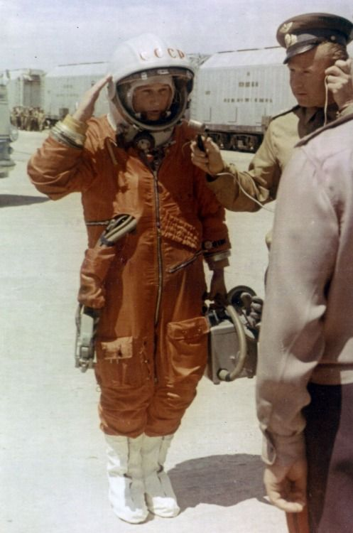 Valentina Tereshkova - The first woman in space. Russians, male and female, beat…