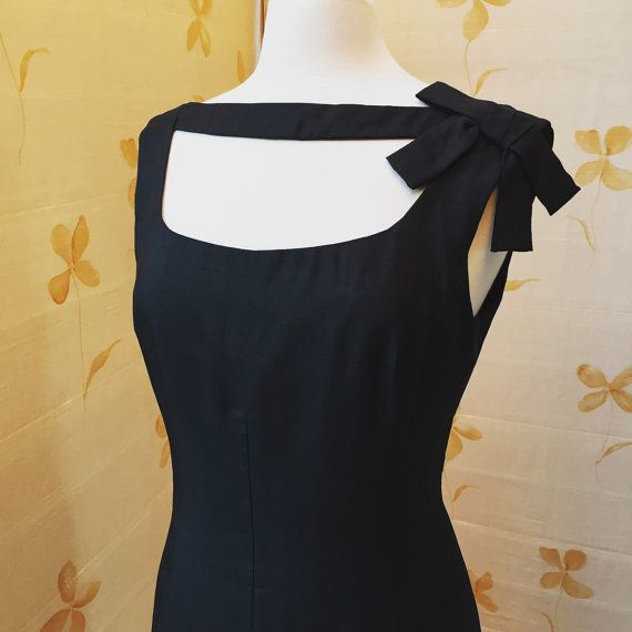 Price reduced - 1960s vintage Oleg Cassini silk evening cocktail dress - designer to Jackie Kennedy
