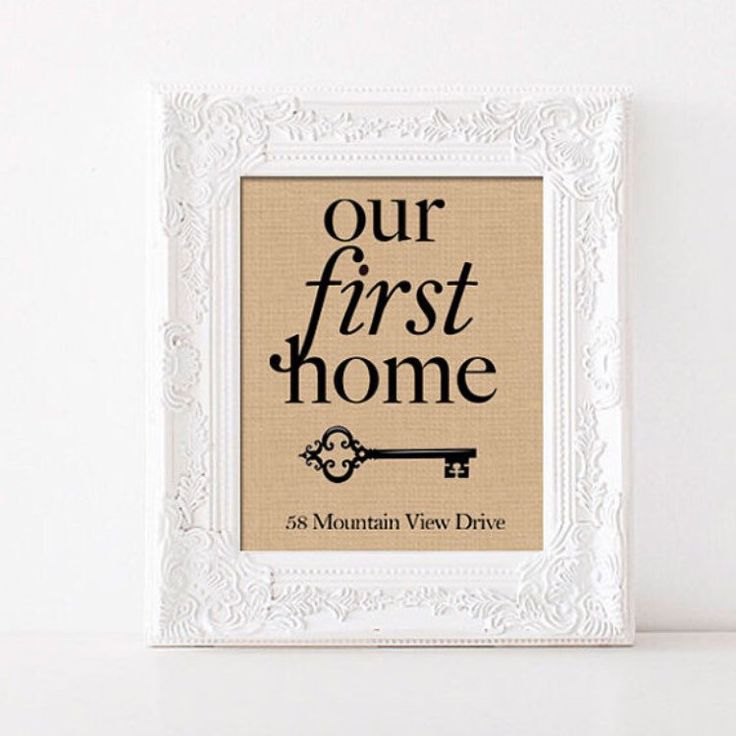Our First Home Burlap Print