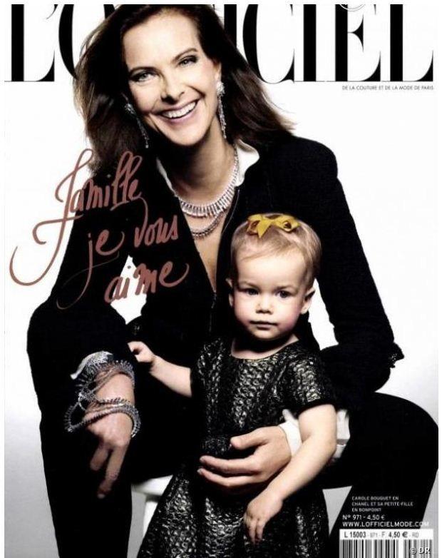 Carole Bouquet jolie grand mère
