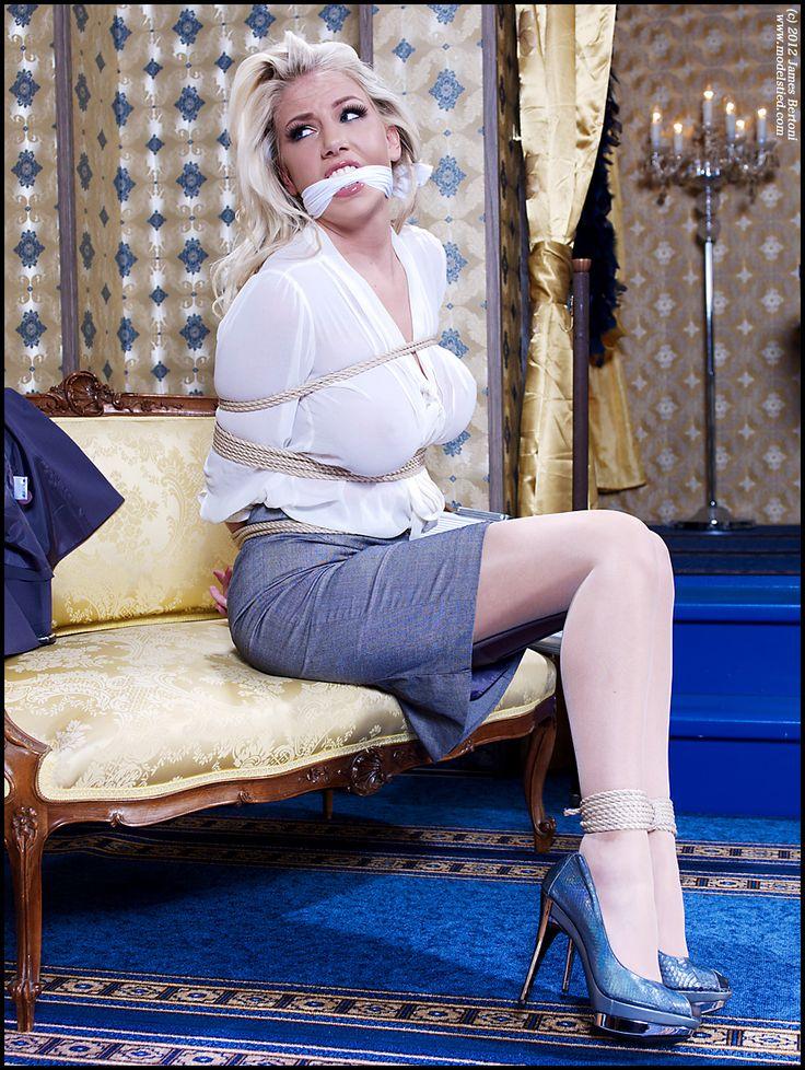 chair secretary tie to Bondage