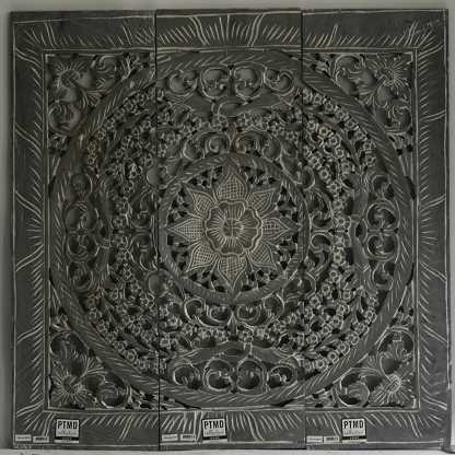 Heb ik! Nu nog ophangen... PTMD Wandpaneel zwart/grijs, wandpaneel, houten schilderij, muur kunstwerk,