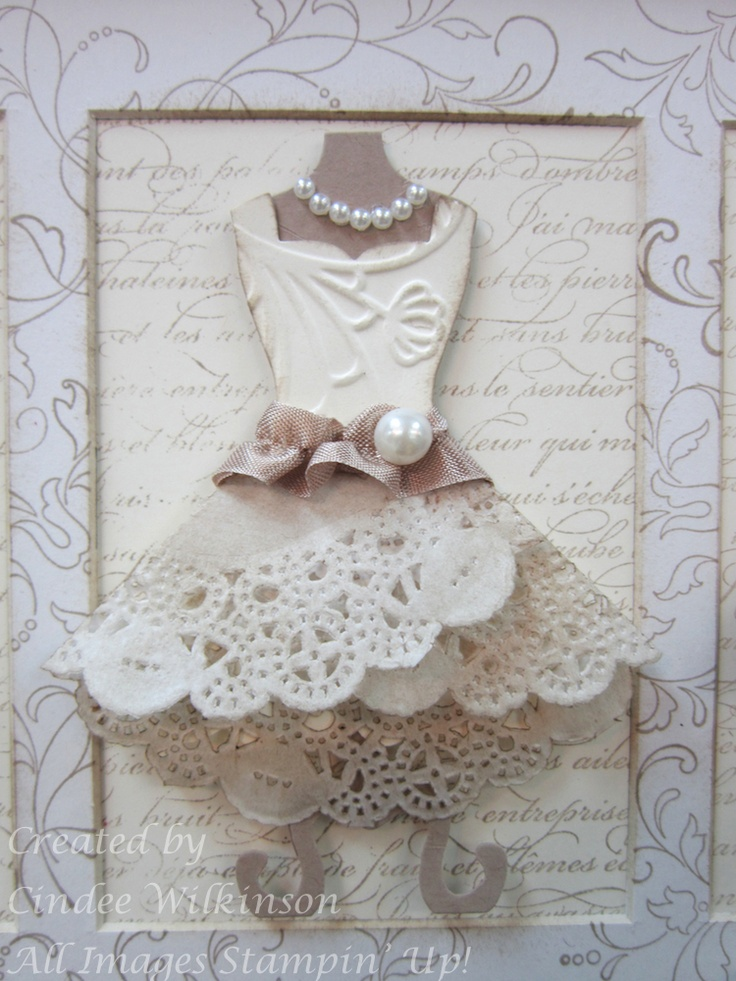 Dress Up Framelits  Elegant Lines TIEF, Tea Lace Paper Doilies