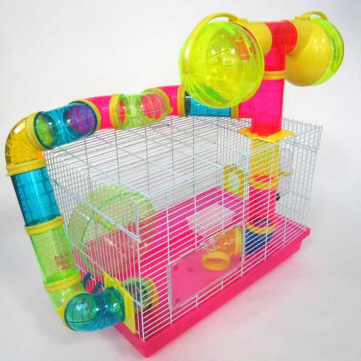 YML+Tubed+Hamster+Cage+in+Pink+-+Habitat+for+2+hamsters.+Plasic+base+and+17+plastic+tubes.+Food+trough,+plastic+wheel. - https://www.petco.com/shop/en/petcostore/product/yml-tubed-hamster-cage-in-pink