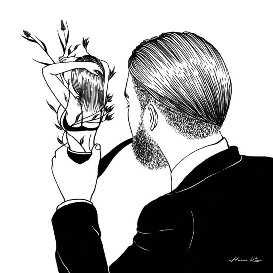 Man in Love Art Print Pinterest/instagram: @wastedinkk -> FOLLOW4MORE