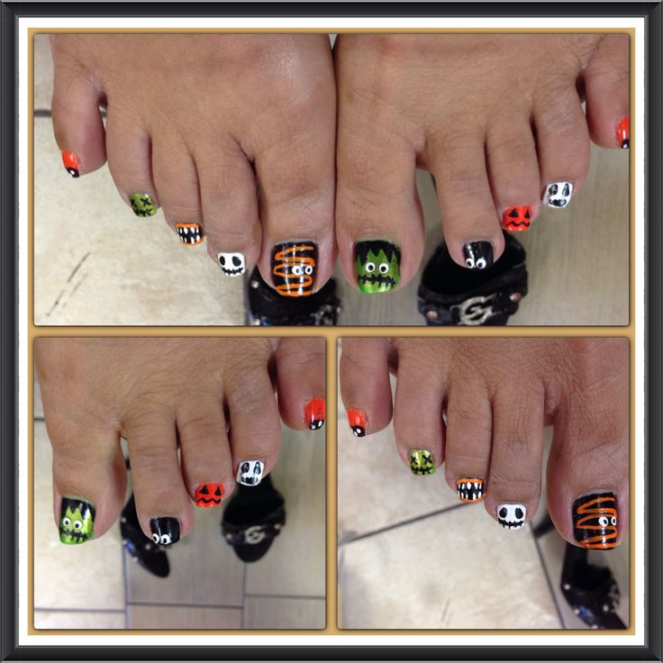 Halloween toe nails design - Best 25+ Halloween Toe Nails Ideas On Pinterest Halloween Toes