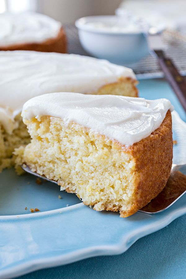 Sweet Cornbread Cake with Salted Honey Butter Frosting