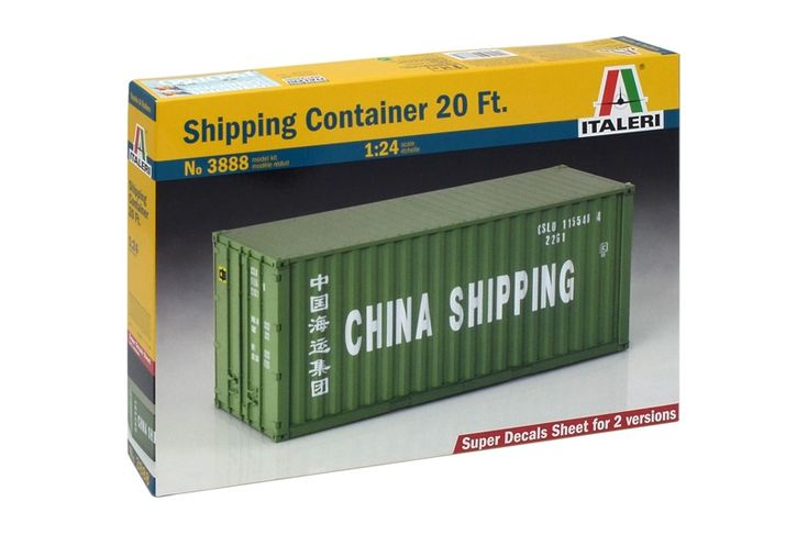 The 20-feet freight container is a key element for the international logistics ...