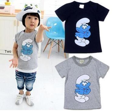 2015 Summer Boy's t shirt Children's Clothing female child cartoon graphic patterns 100% cotton short-sleeve T-shirt basic shirt