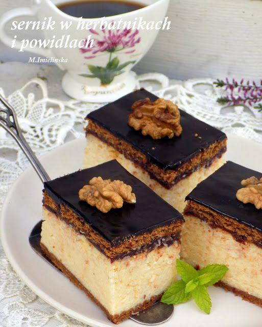 Domowa Cukierenka - Domowa Kuchnia: sernik w herbatnikach i powidłach
