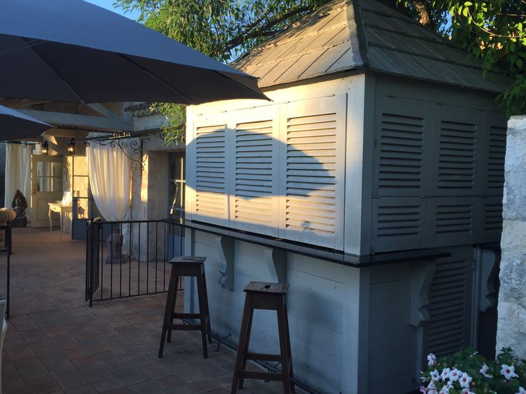 Outdoor bar. Shutters.