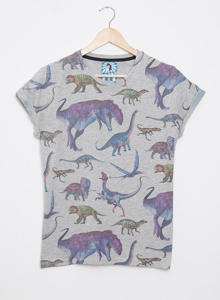 Women's All Over Print Dinosaur TShirt