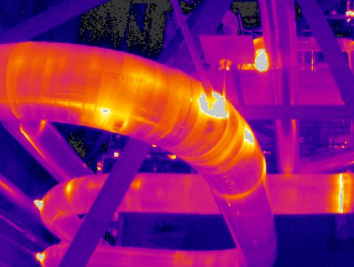 Petrochemical Thermal Imaging: White spot showing deterioration detected using a thermal imaging camera . With the advent of thermal imaging technology, ...