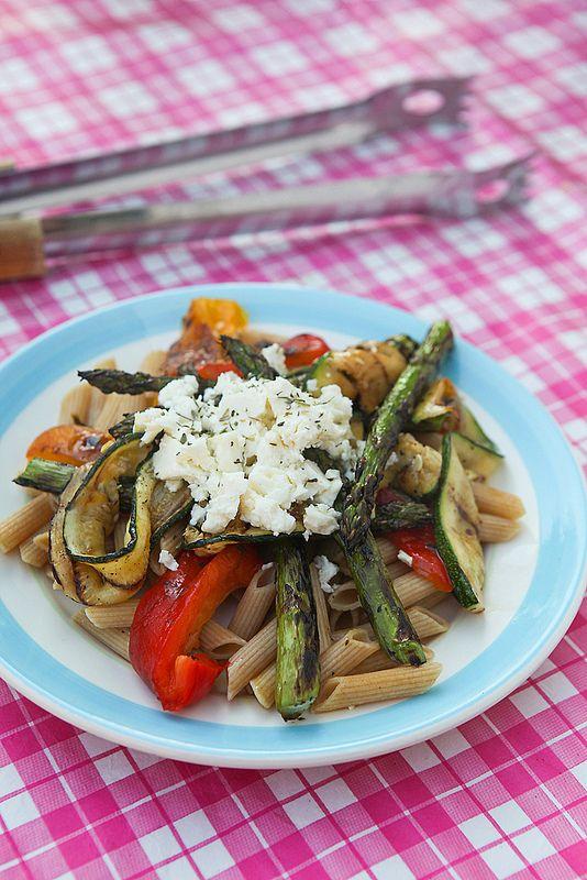 Photo-copy: Dag 21: pasta met gegrilde groentjes en feta