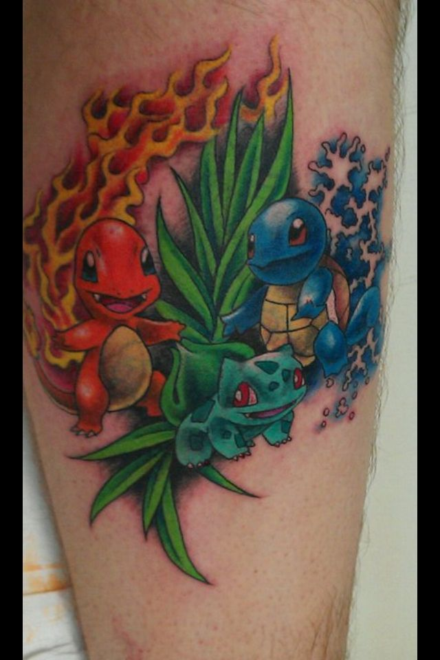 Gen 1 starter pokemon tattoo ideas pinterest pokemon for Generation 8 tattoo