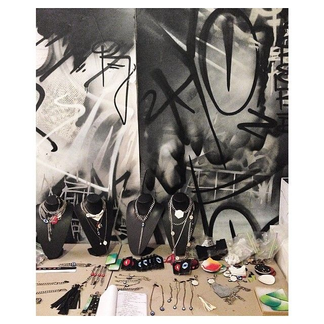 A little peak into our studio space #TLAspaces #graffiti #leather #accessories #behindthescenes✌️