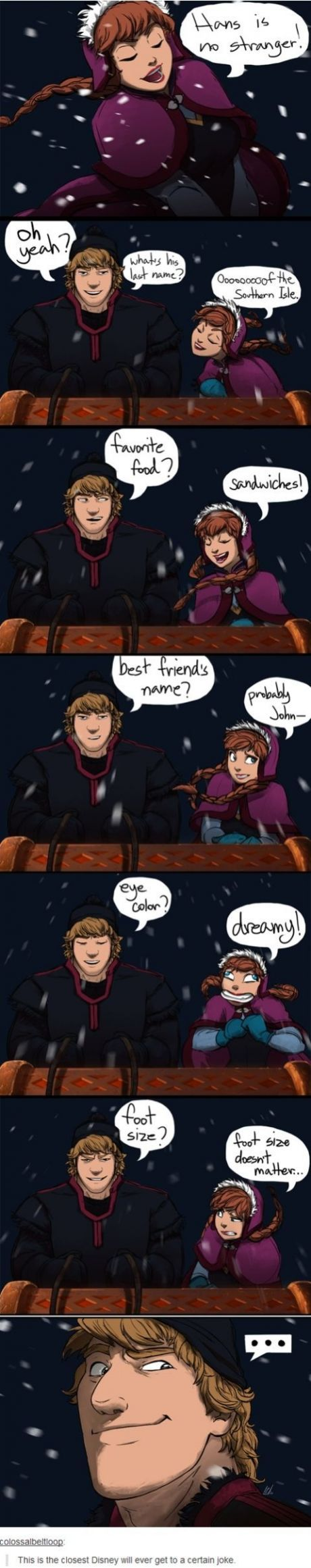 Oh.....OH. Thanks Kristoff. [Frozen]