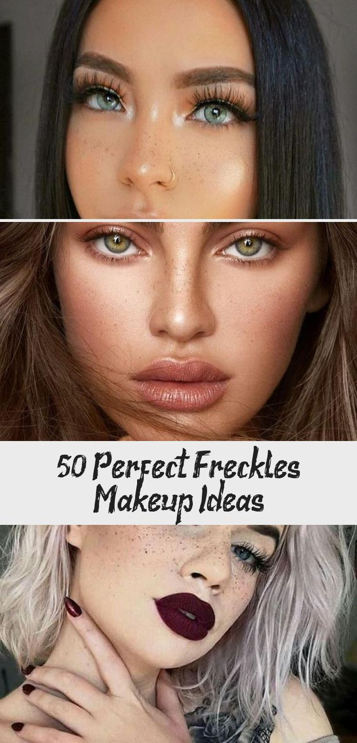 Hair Styles in 2020 Freckles makeup, Eye makeup, Fake