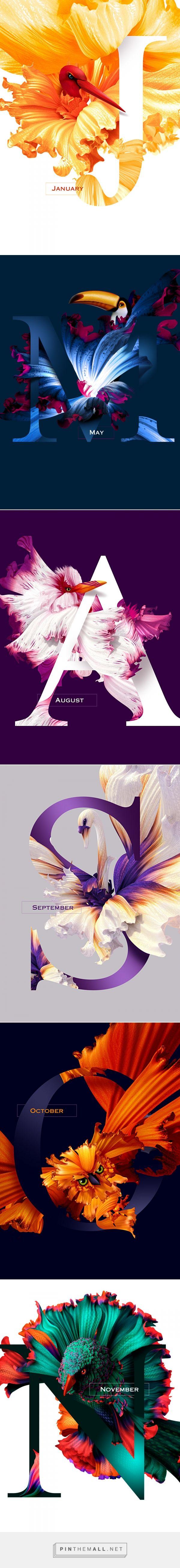 Flying Flowers 2016 by Artur Szygulski on Behance  | Fivestar Branding – Design and Branding Agency & Inspiration Gallery