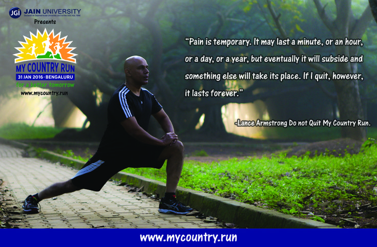 On 31st January 2016 find your goal! Register @ www.mycountry.run