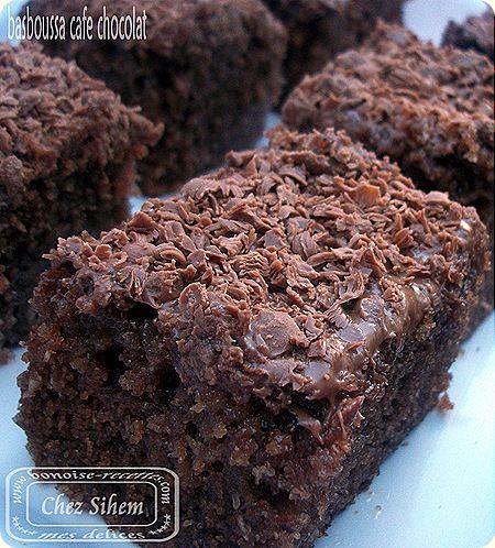 Basboussa café chocolat ( un délice)