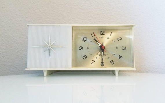 Art Deco Alarm Clock Nightstand Clock Westclox Electric Vintage