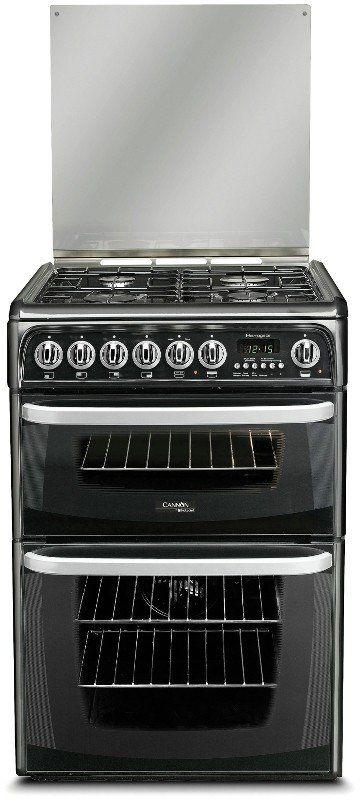 Hotpoint Cannon Harrogate CH60DHKFS Double Oven Dual Fuel This Cannon Harrogate has 1 fan assisted electric oven and 1 conventional electric oven with grill both with interior lights, and a gas hob giving you the best of both fuel types. Theres plenty of roo http://www.MightGet.com/february-2017-2/hotpoint-cannon-harrogate-ch60dhkfs-double-oven-dual-fuel.asp