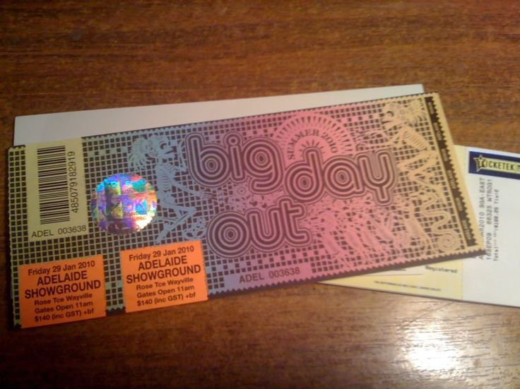 big day out ticket - Google Search