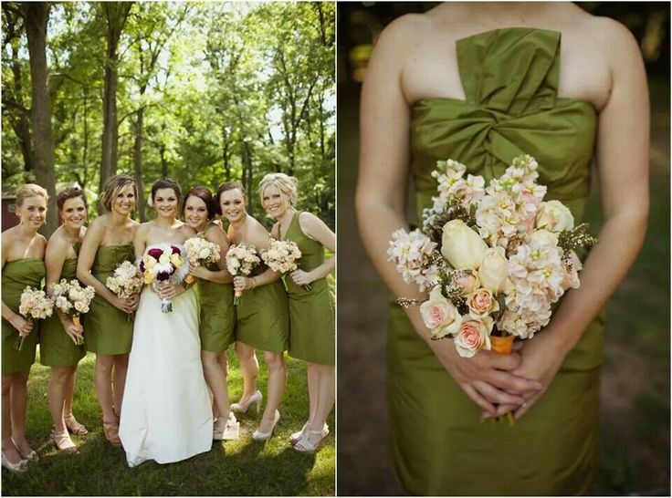 Olive green wedding theme it 39 s all about wedding for Olive green wedding dresses