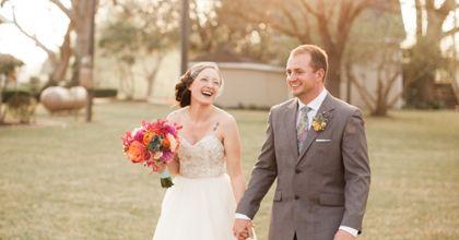 A Colorful Open-Air Wedding in Wharton, Texas This.