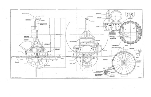 Sperry Ball Turret Schematic B 17g Bomber Ww2 Uniform