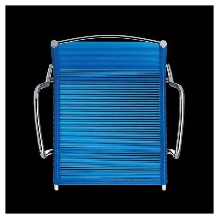 Plot, fauteuil outdoor fil PVC tressé Metalmobil