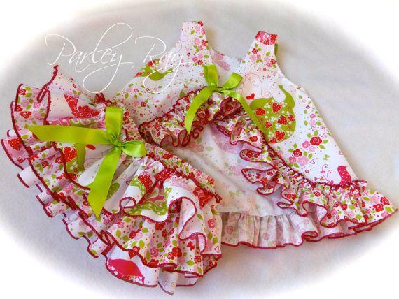 Parlamentar fresa Ray Tea Party Cupcake Pichi vestido con
