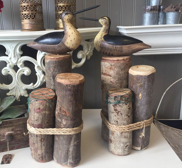 Nautical Bookends - Birds on Dock Pilings