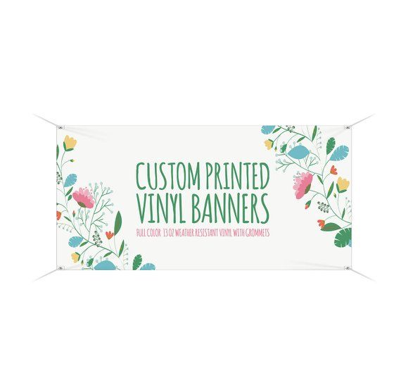 Custombanner Customvinylbanner Our High Quality Square Vinyl Banners Start At Two Feet By Four Feet And Are A Perf Banner Printing Custom Banners Custom Sign