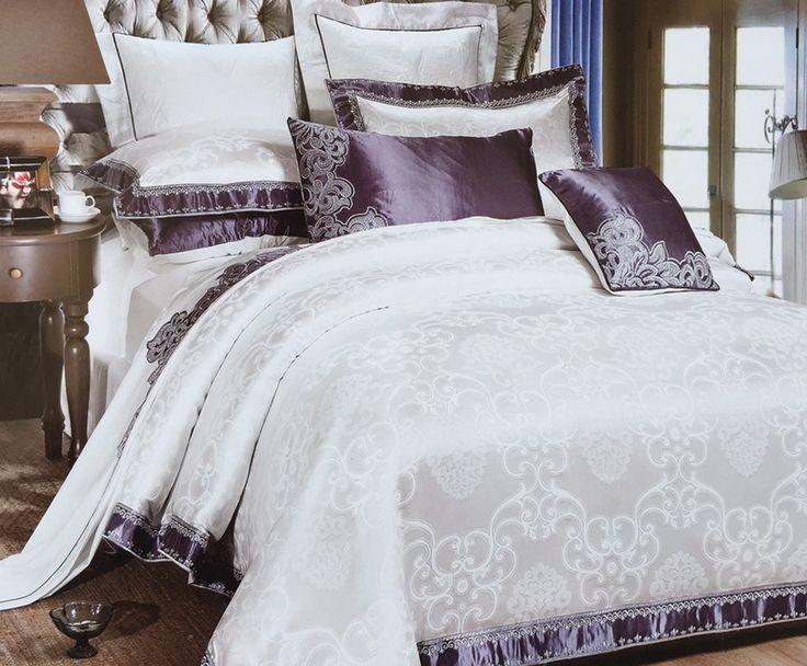 Lenjerie de pat din mătase Valentini Bianco MT010/1