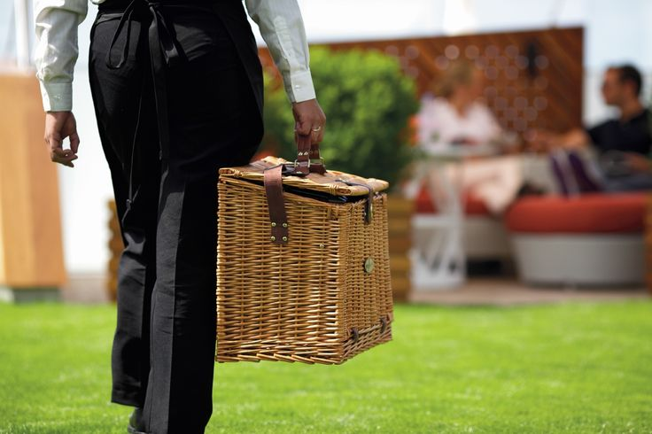 A lawn picnic aboard Celebrity Cruises Solstice class ships.