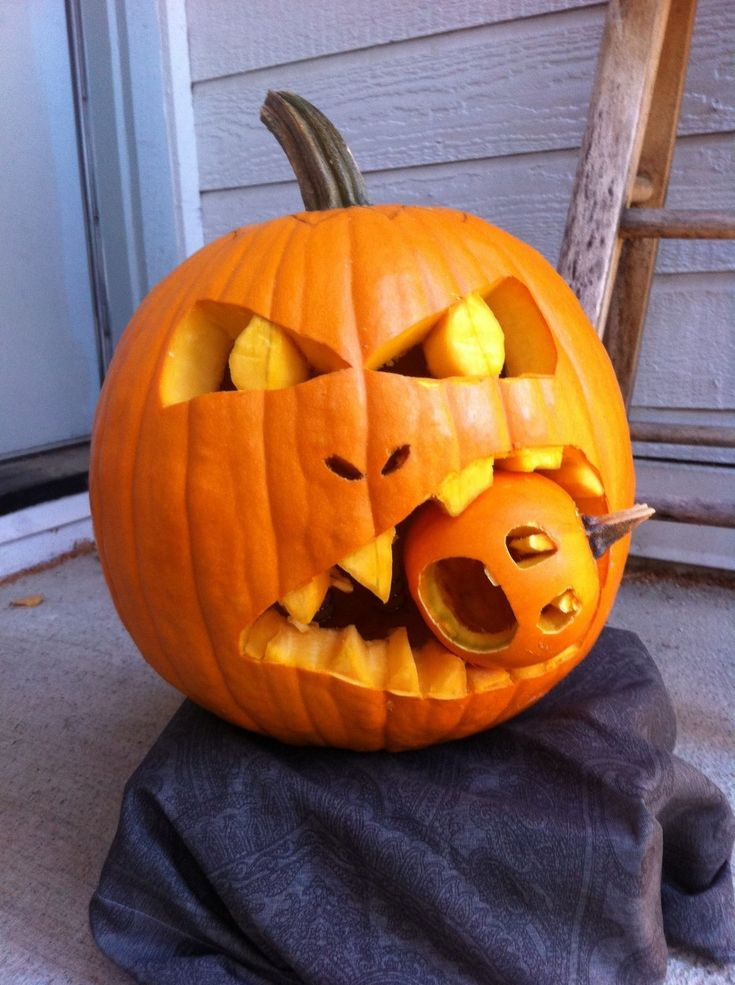 Be Sure That The Pumpkin Is Totally Dry Before You Start Decorating It  Carving Pumpkins In This