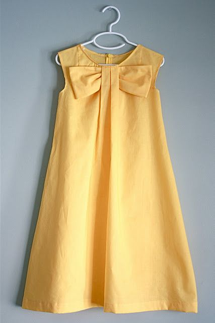 DIY Bow dress. I know it's for kids but it just so cute!