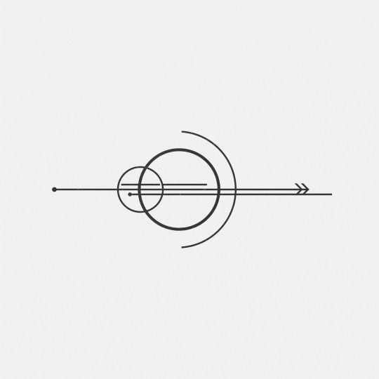 20 ideias de tatuagens simples e discretas | Laís Schulz Tatuagem minimalista com círculos e setas