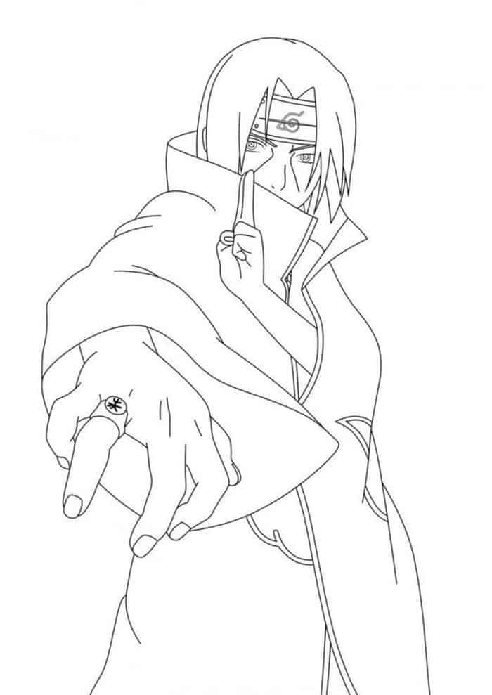 Naruto Shippuden Itachi Coloring Pages In 2020 Itachi Uchiha Art Naruto Painting Naruto Sketch