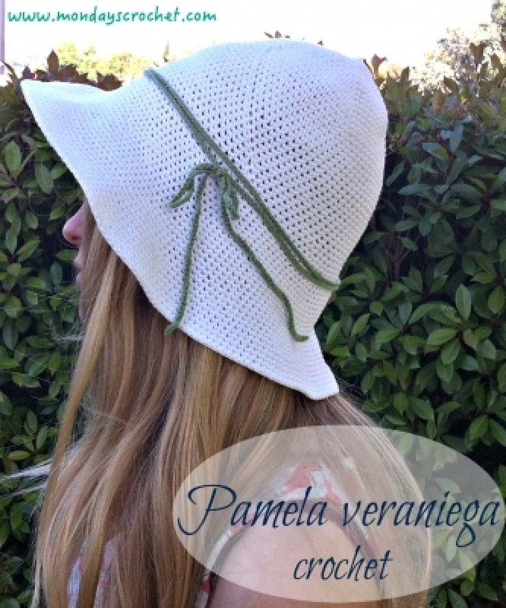 135 best sombreros crochet images on Pinterest | Gorros crochet ...