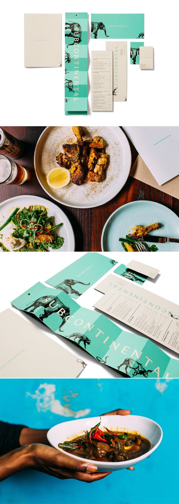 Subcontinental by Ascender #brand #branding #identity #design #visual #graphic #logo #logotype #print #editorial #publication #brochure #report #collateral #magazine #typography #layout #spread #spreads #poster #book #booklet #annual #review #hospitality #restaurant #indian #pottspoint #india